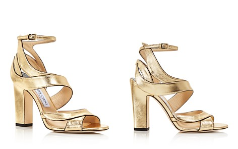 Jimmy Choo Women's Falcon 100 Leather High Heel Sandals - Bloomingdale's_2